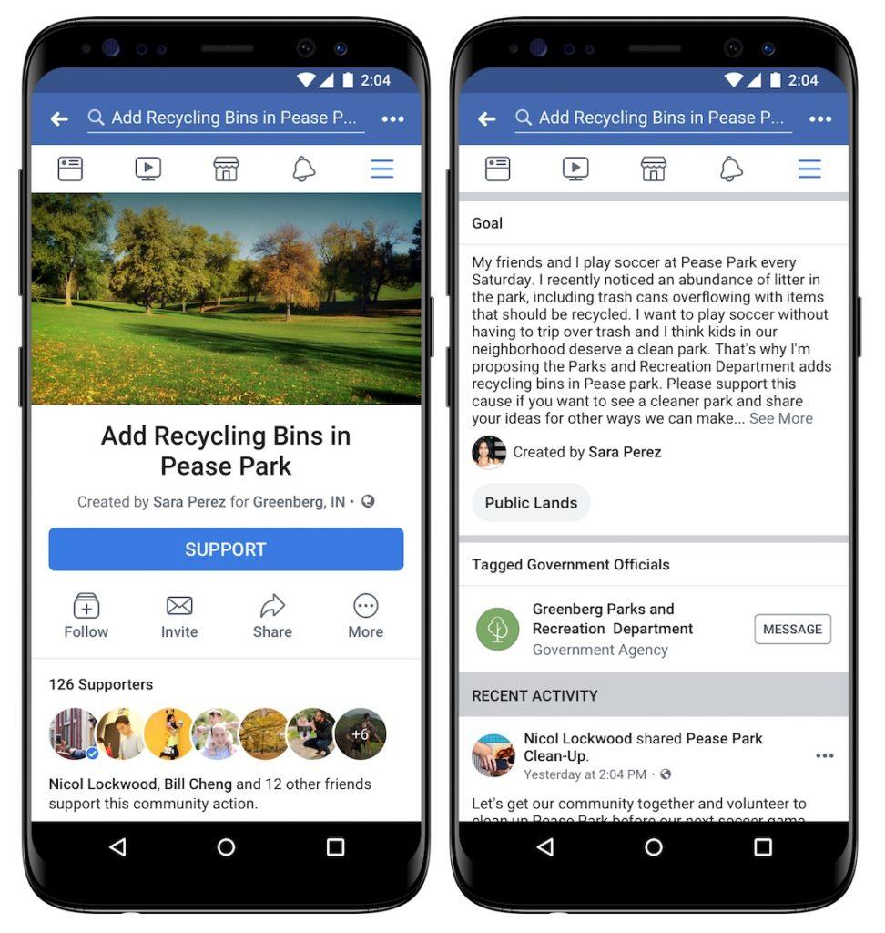 Facebook lance une fonctionnalité permettant de créer des pétitions directement sur le réseau.