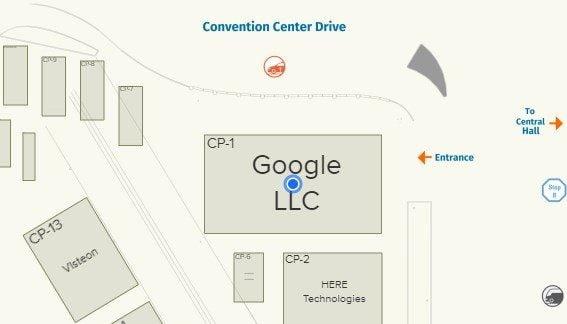 Emplacement du kiosque de Google lors du CES 2019