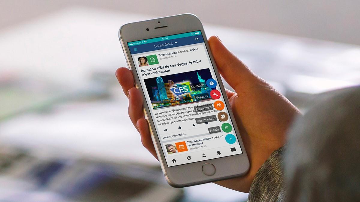 application mobile jamespot réseau social d'entreprise