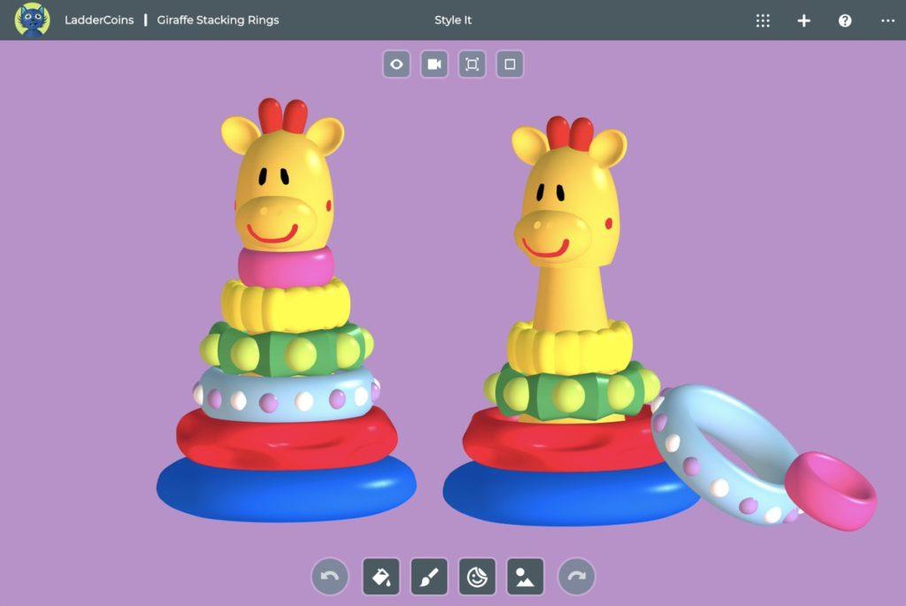 Exemple de création que l'on peut retrouver sur le site de SolidWorks Apps for Kids.