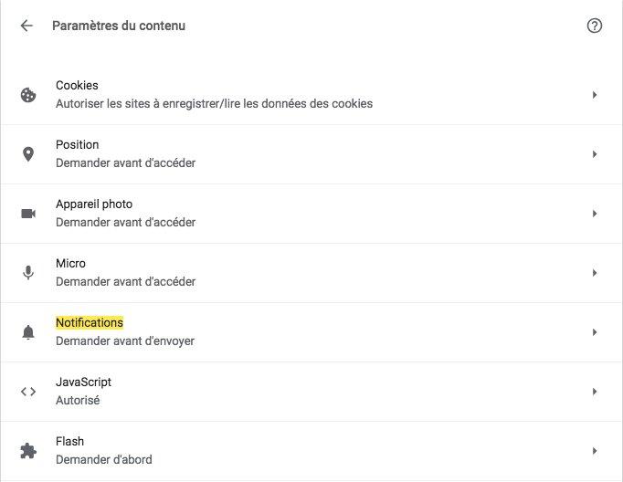 Comment désactiver les notifications sur Google Chrome partie 5