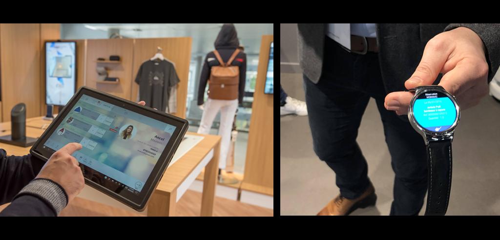 Montre connecté et tablette pour vendeurs