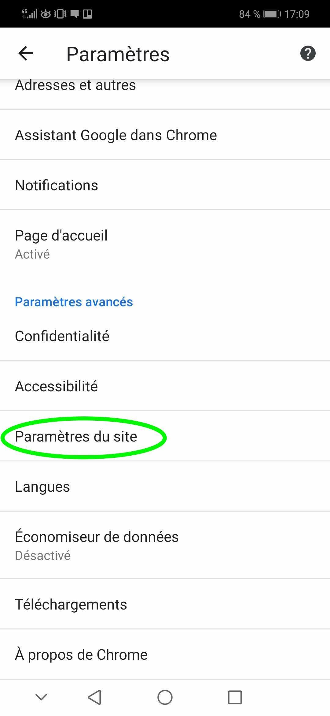 Comment désactiver les notifications Google Chrome sur Androïd partie 3