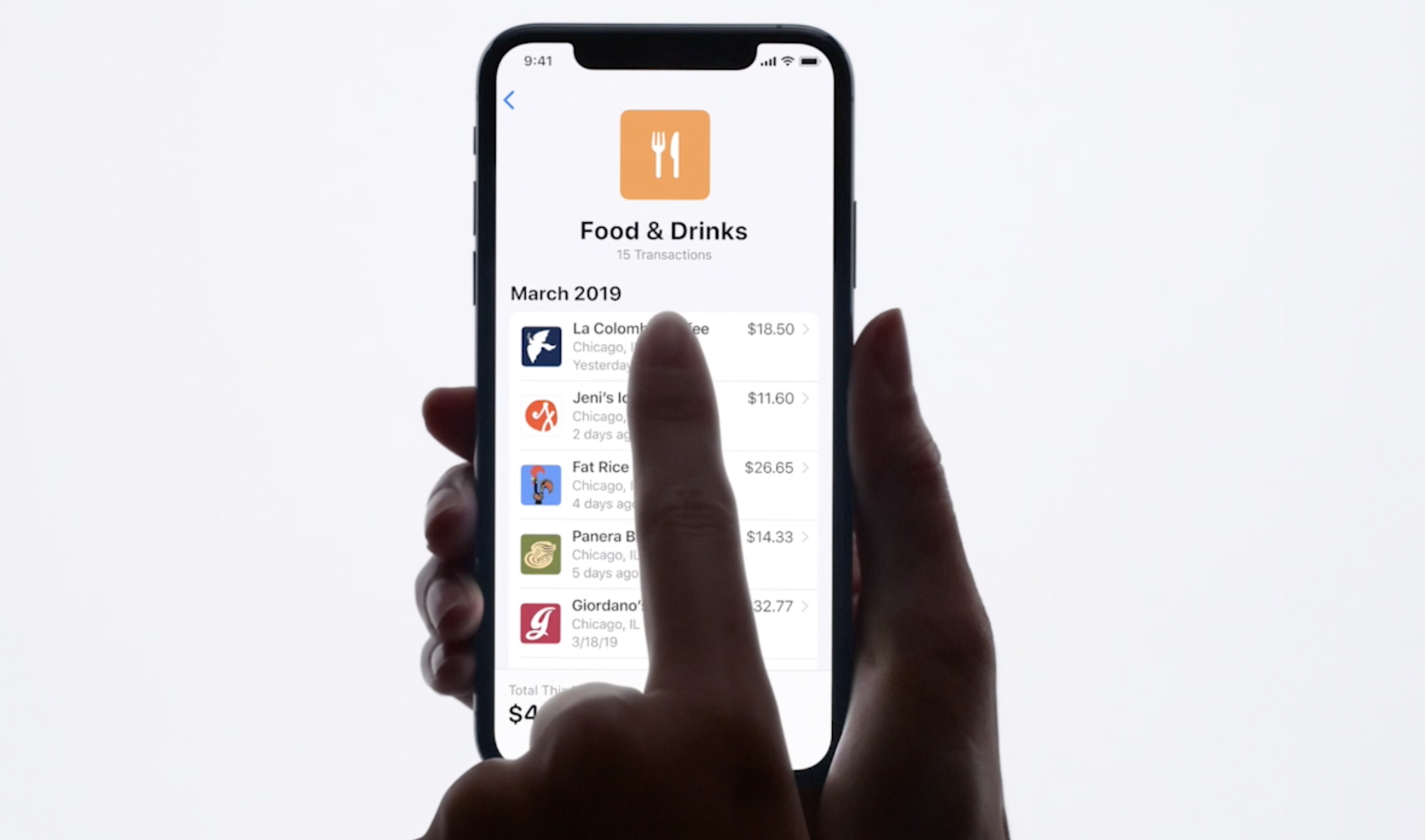 aperçu des tableaux de bord pour gérer son budget avec Apple Card