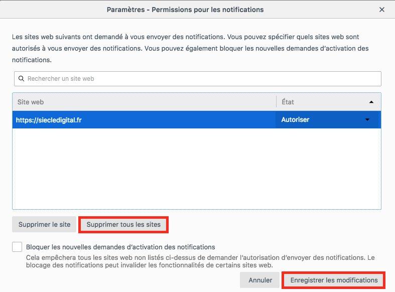 Comment désactiver les notifications sur Firefox image 7