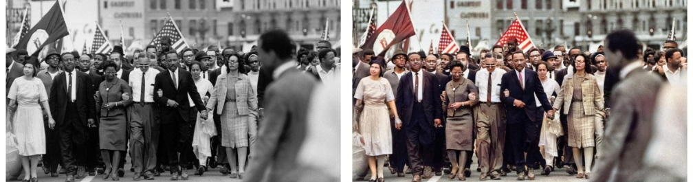 photo de la marche de MLK