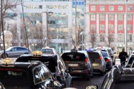 Taxis en attente à Oslo