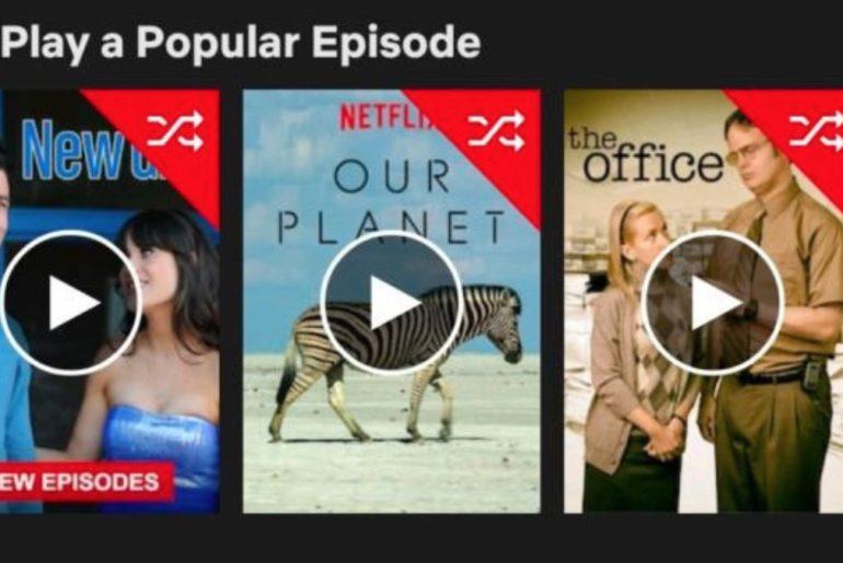 Netflix teste un mode aléatoire.