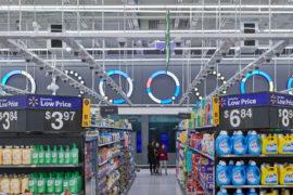 aperçu du magasin IRL de Walmart