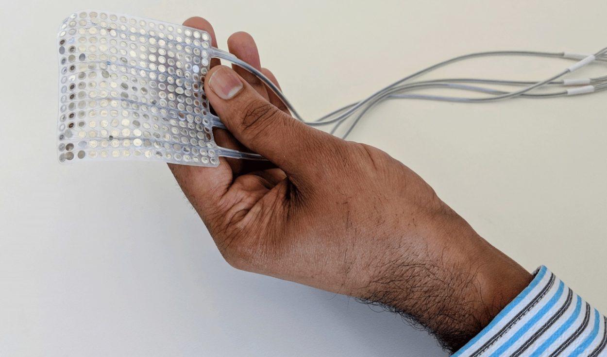 Les électrodes capables de capter les signaux