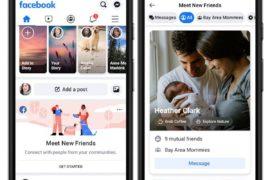 Capture d'écran de l'intégration de Meet New Friends dans le fil d'actualité de Facebook