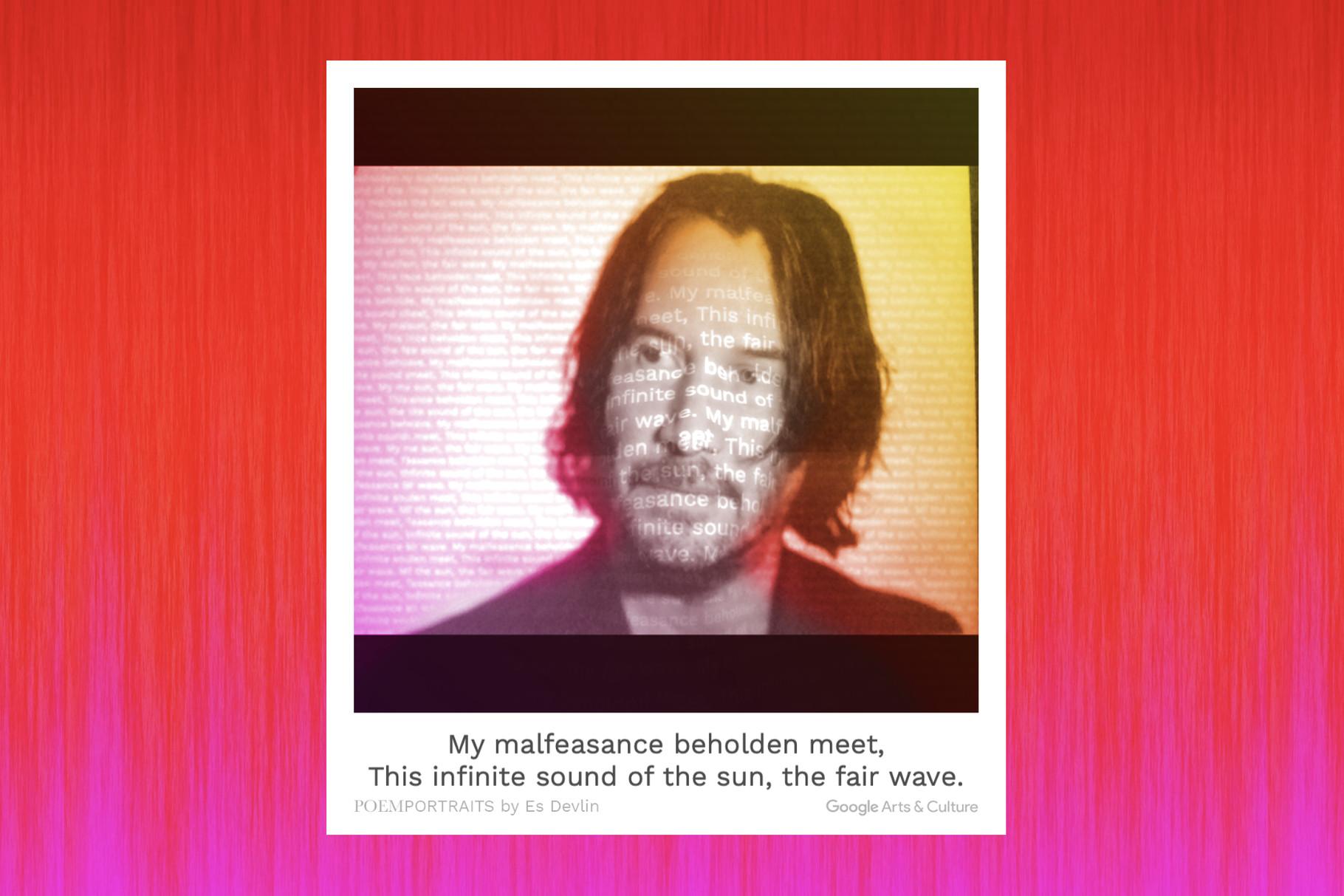 Google créé votre portrait poème.