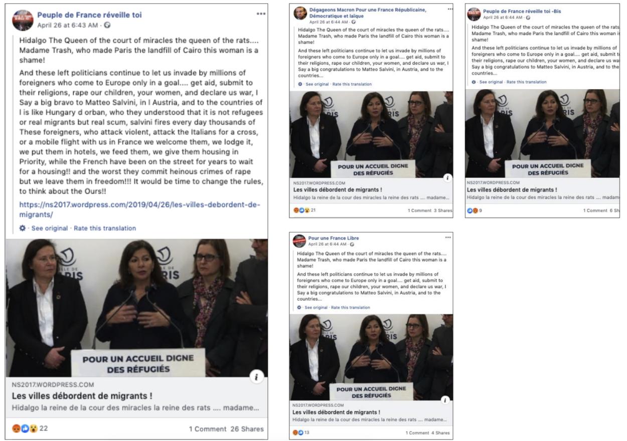 Partages de publications synchronisés sur Facebook