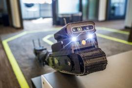 Le robot développé par Sarcos entrainé à l'aide de la plateforme de Microsoft