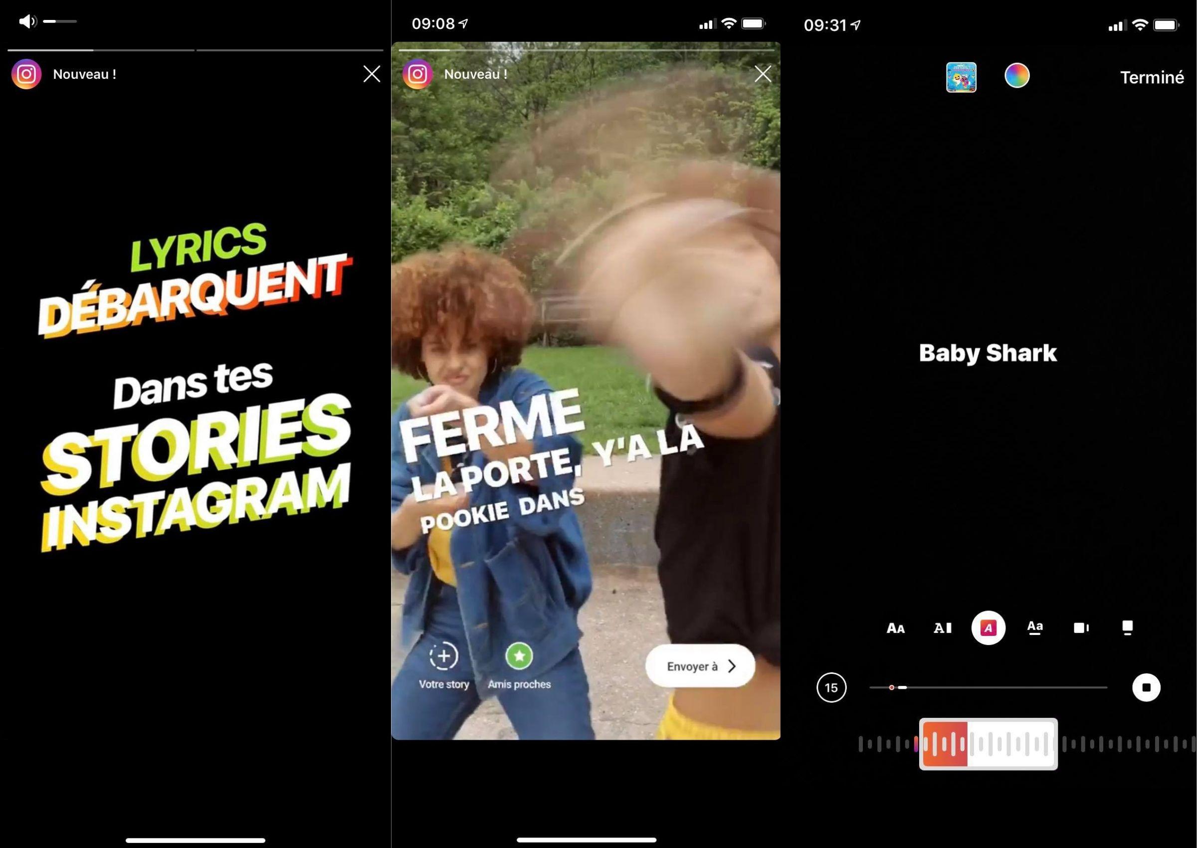 Instagram affiche désormais les paroles des chansons dans les stories