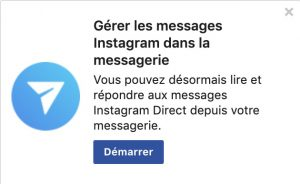 messagerie instagram facebook