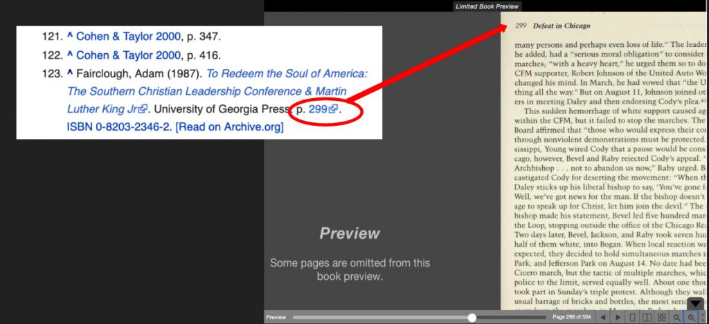 Extrait de livres cliquables dans Wikipedia