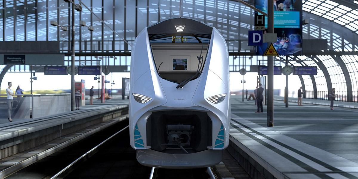 Une seconde modalisation de la partie avant du Mireo Plus H de Siemens Mobility.