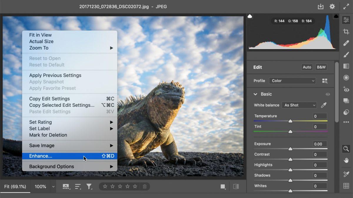 Le mode Super Resolution permettra d'agrandit les images sans perte de qualité grâce à l'intelligence artificielle.